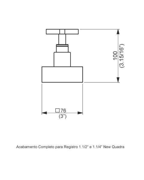ACABAMENTO REGISTRO BASE FABRIMAR 1.1/4\' e 1.1/2\' (grande) - NEW QUADRA