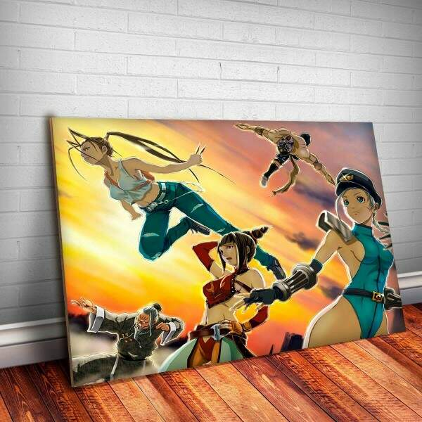 Placa Decorativa Street Fighter Ibuki 4