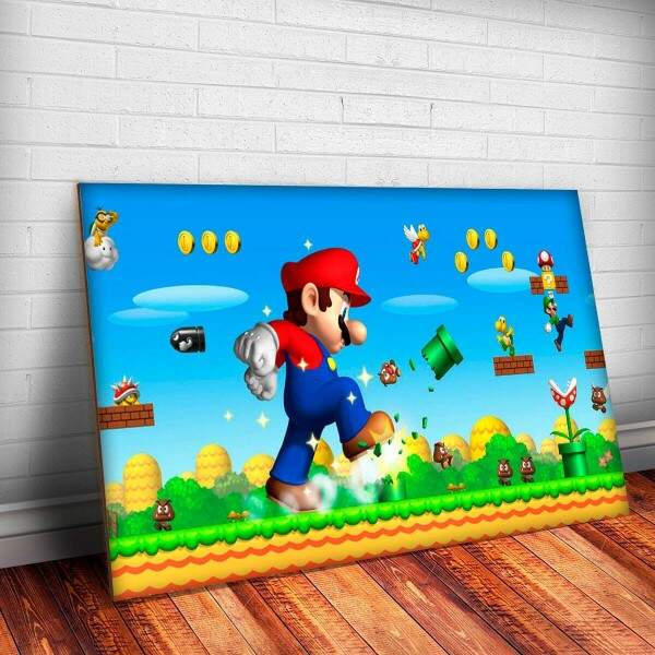 Placa Decorativa Super Mario Bros 6