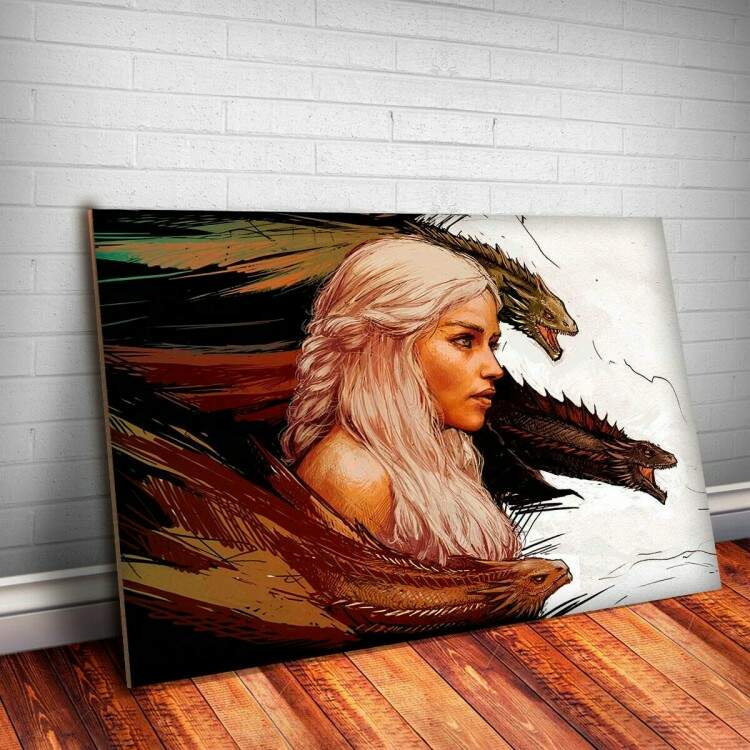 Placa decorativa Game Of Thrones 31 - Daenerys