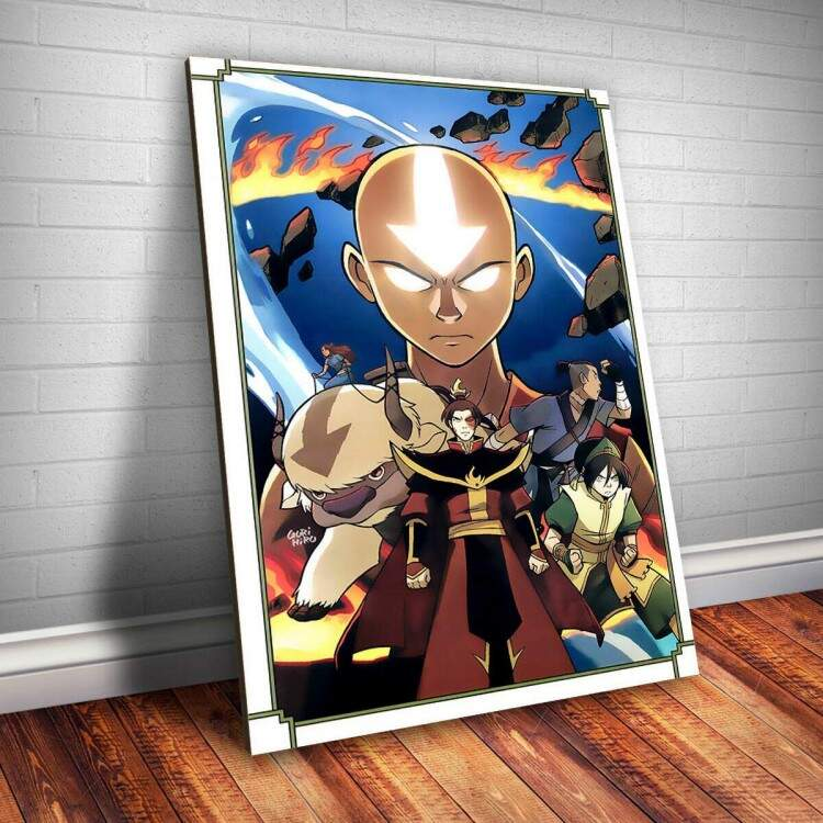 Placa decorativa Avatar 6 Animes A Lenda de Aang