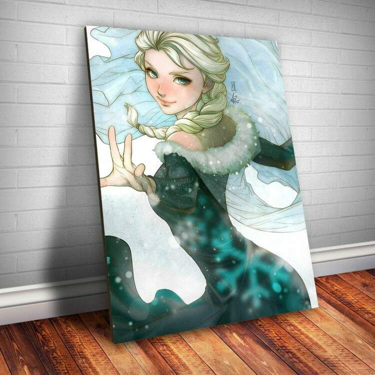 Placa decorativa Princesa 17 - Elsa Frozen