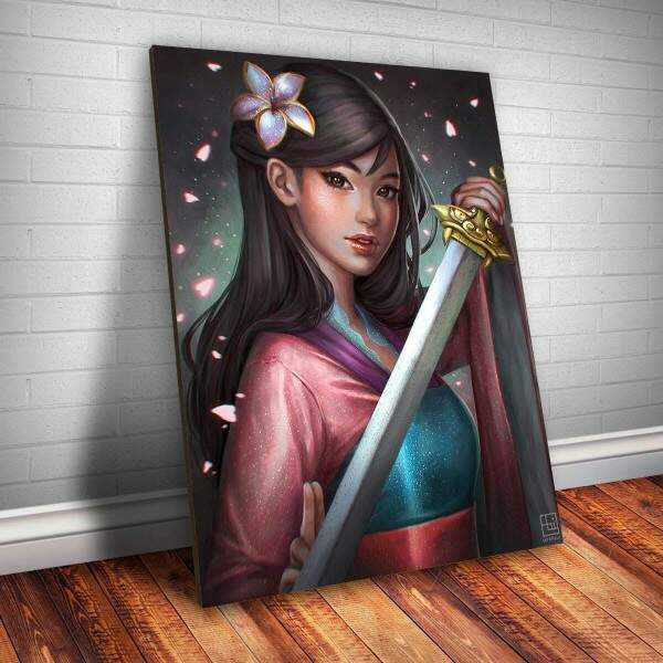 Placa decorativa Princesa 21 - Mulan