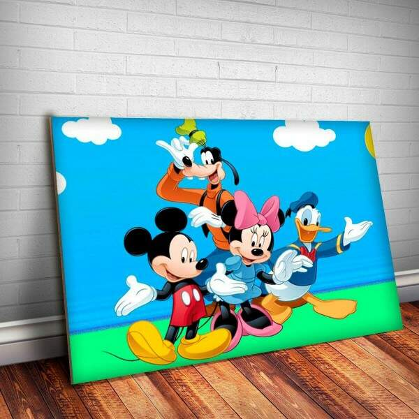 Placa Decorativa Turma do Mickey 3