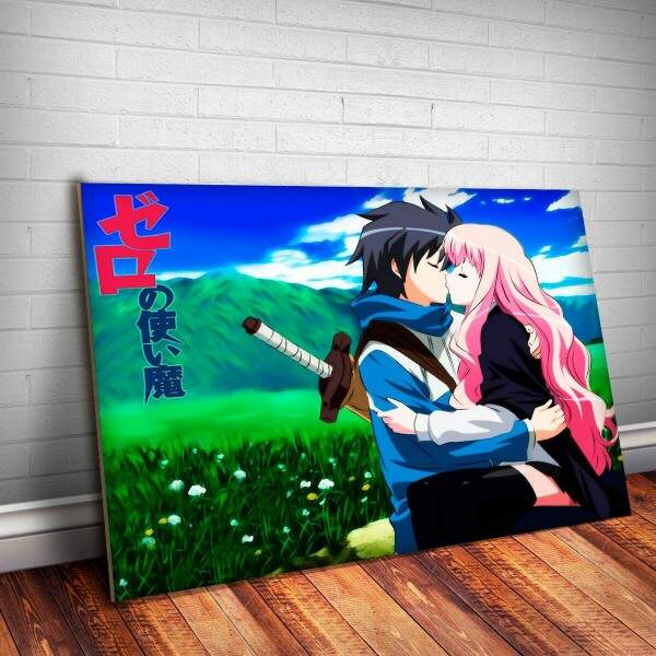 Placa Decorativa Anime Louise e Saito 1