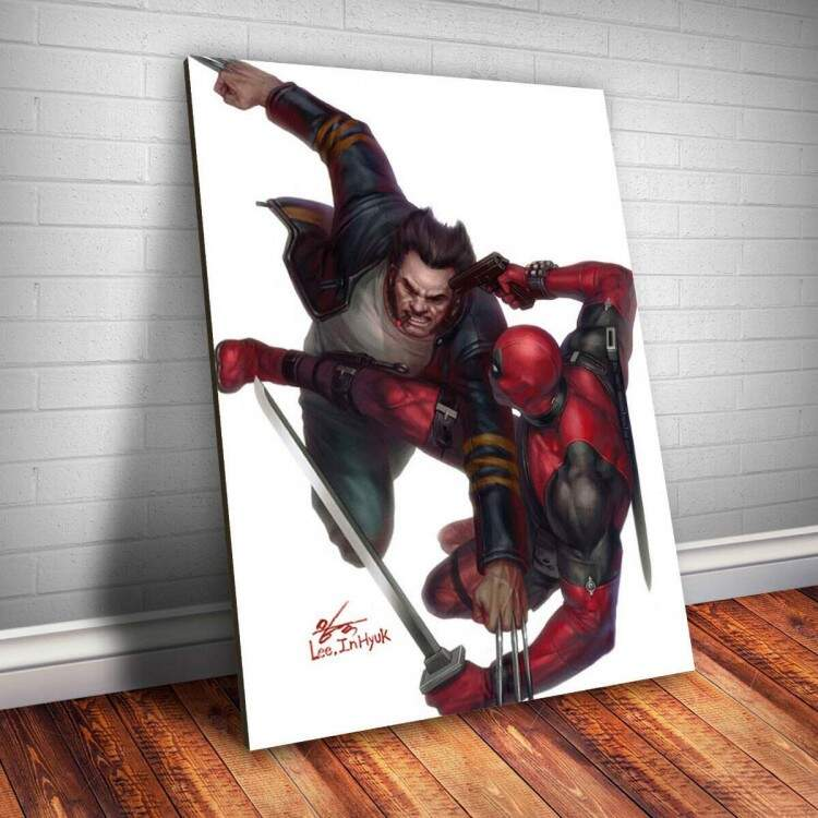 Placa decorativa Heróis 88 - Deadpool e Wolverine