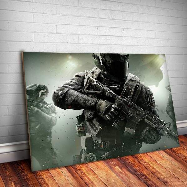 Placa Decorativa Call of Duty 4