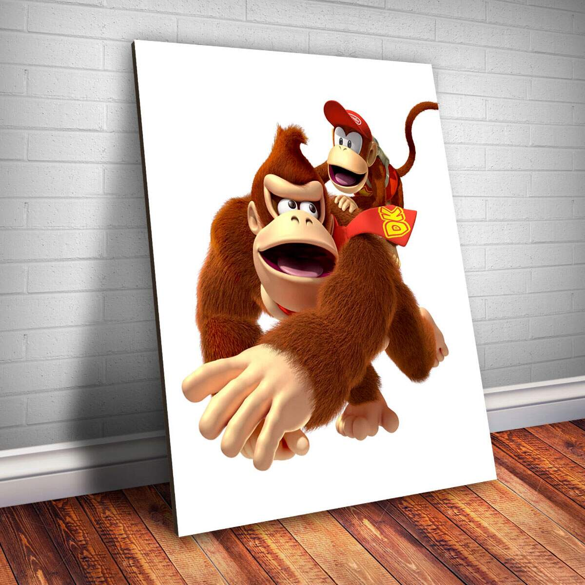 Placa Decorativa Donkey Kong e Diddy Kong
