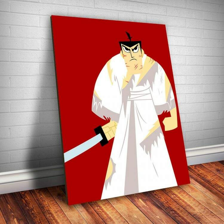 Placa Decorativa Samurai Jack 1