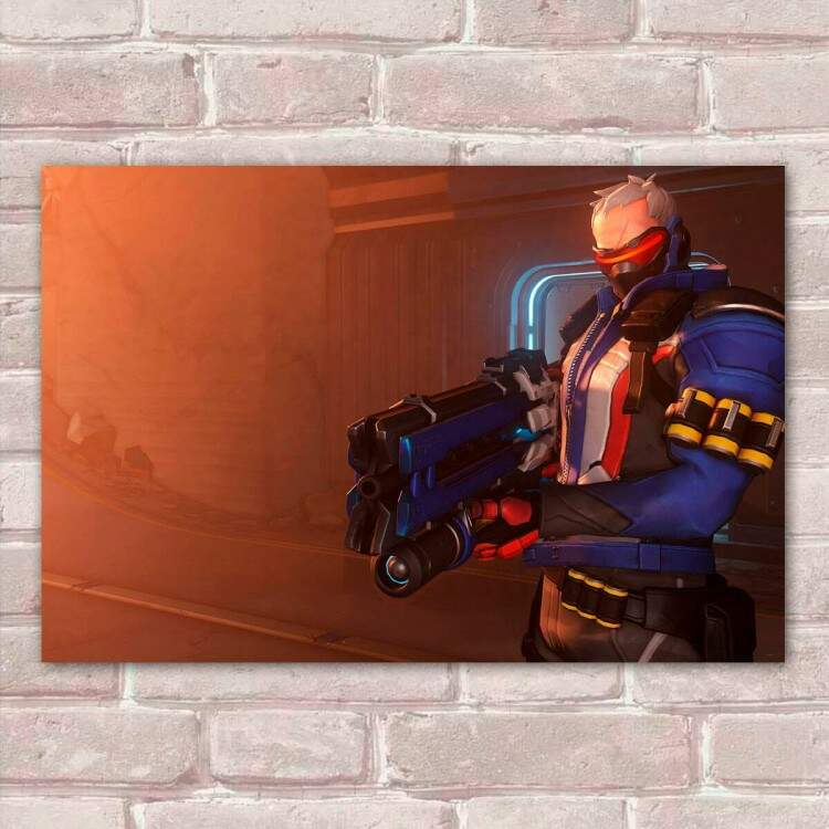 Placa Decorativa Overwatch 13 Soldado 76