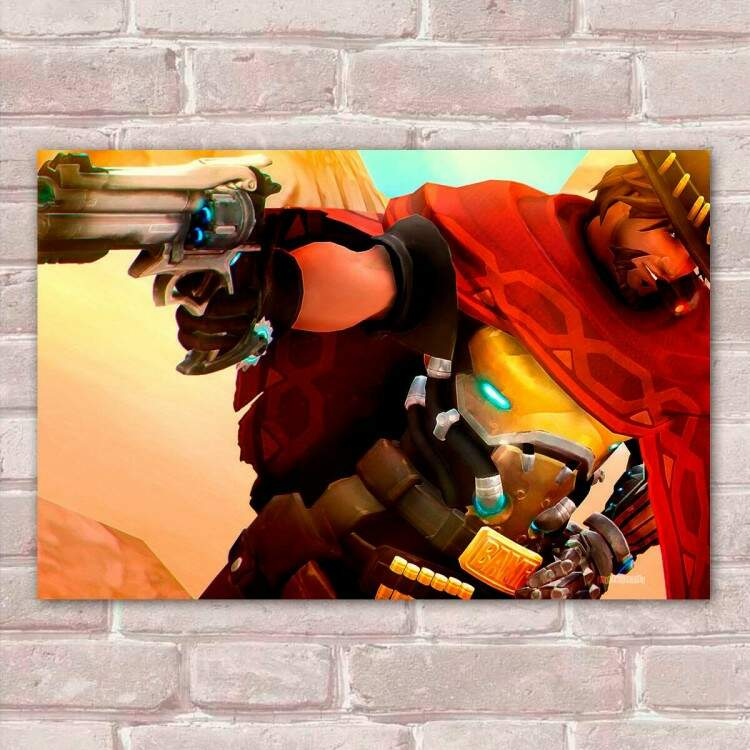 Placa Decorativa Overwatch 16 Mccree