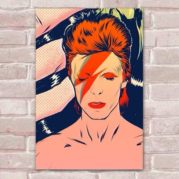 Placa Decorativa David Bowie 4