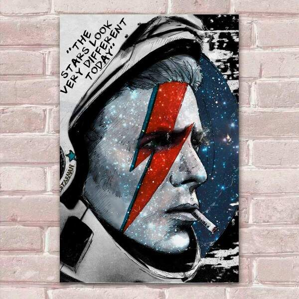 Placa Decorativa David Bowie 7