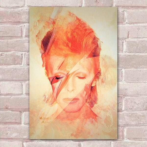 Placa Decorativa David Bowie 8