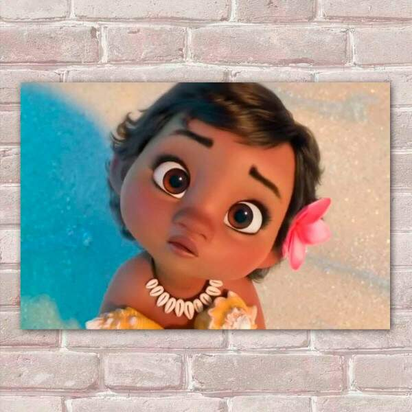 Placa Decorativa Moana Baby 1