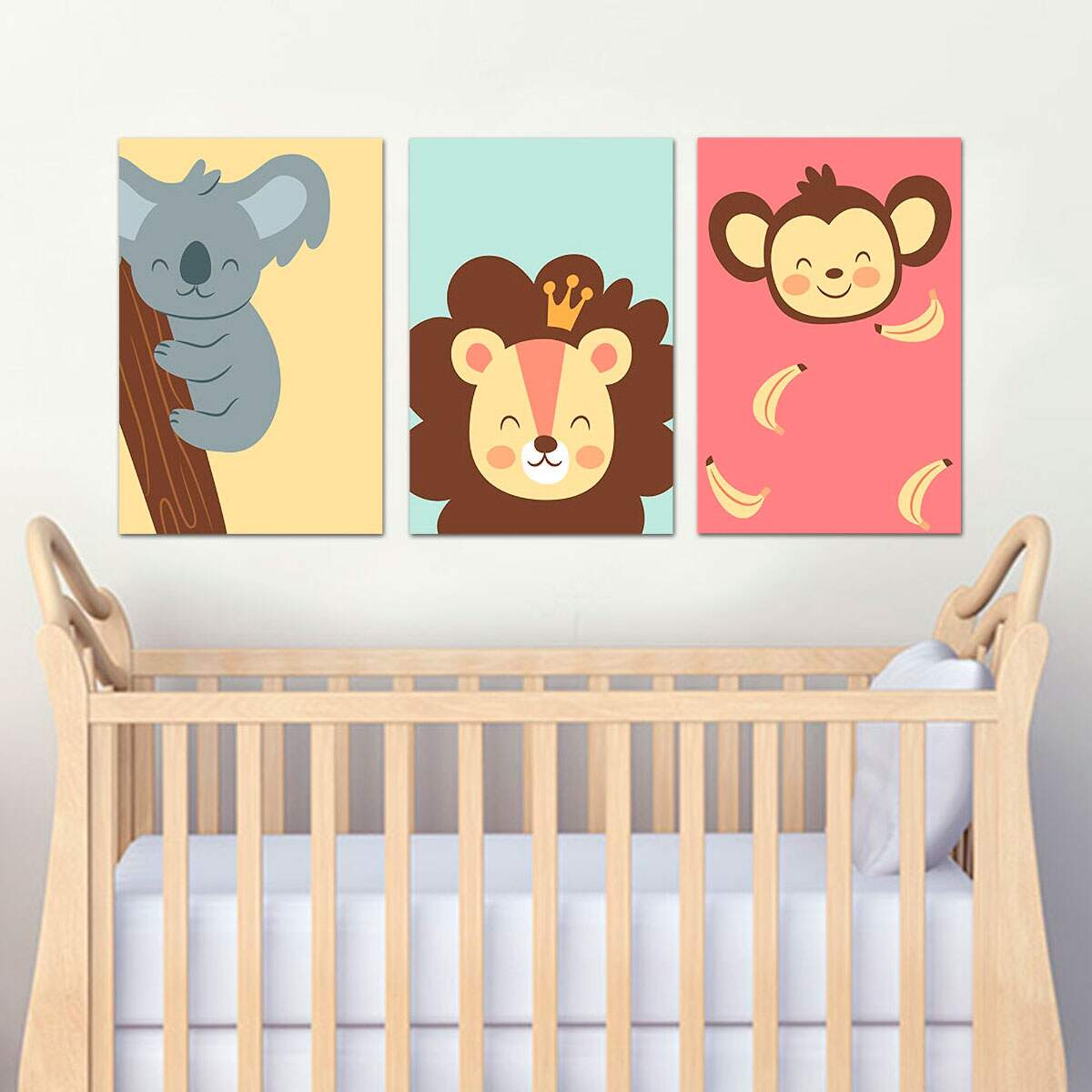 3 Placas Decorativas Infantil 03 Bichinhos