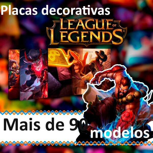 Placas Decorativas League of Legends