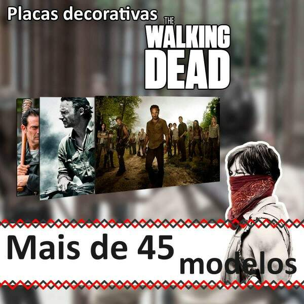 Placas Decorativas The Walking Dead