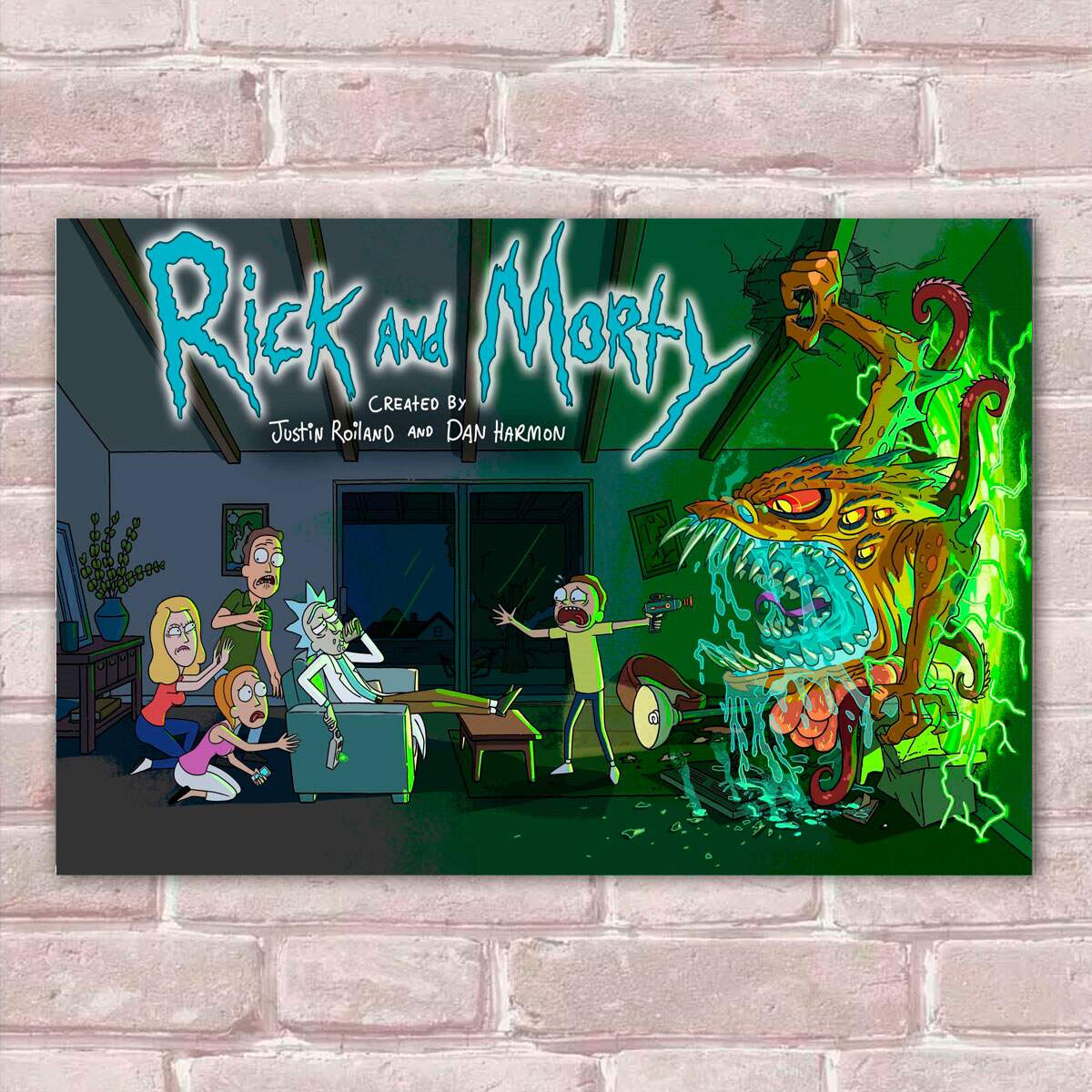 Placa Decorativa Rick and Morty 1