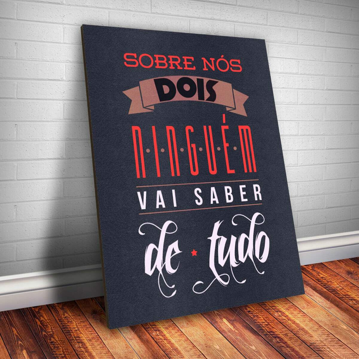 Placa Decorativa Frase de Música 28