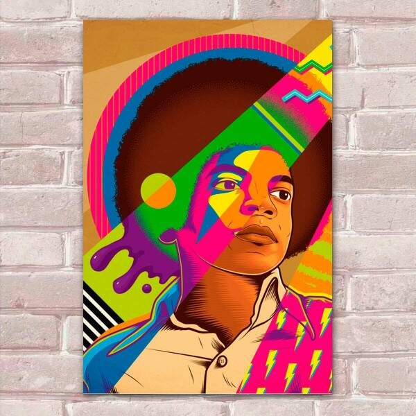Placa Decorativa Pop Art 28 Michael Jackson