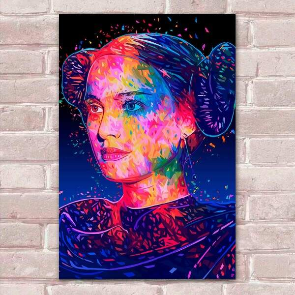 Placa Decorativa Pop Art 33 Princesa Padmé