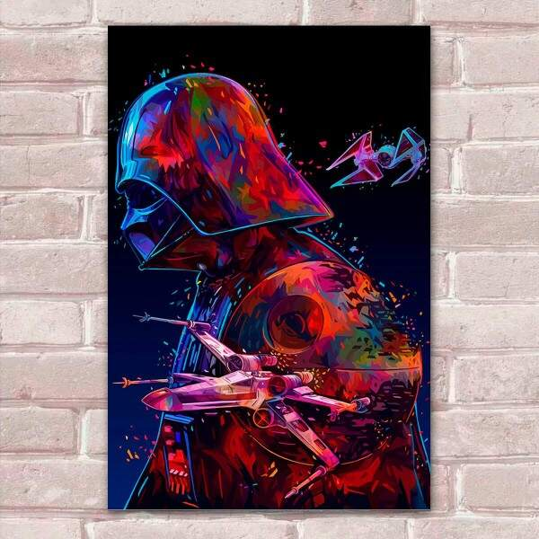 Placa Decorativa Pop Art 34 Star Wars