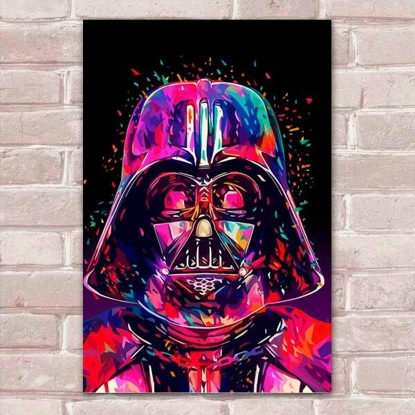 Placa Decorativa Pop Art 35 Darth Vader