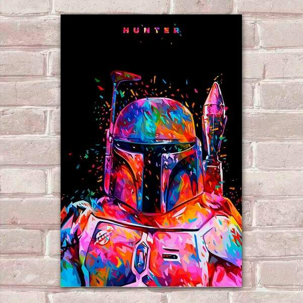 Placa Decorativa Pop Art 36 Boba Fett