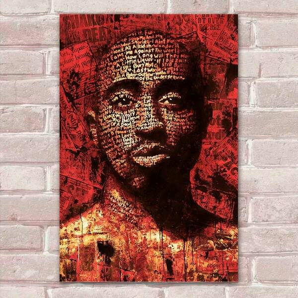 Placa Decorativa Pop Art 53 Tupac