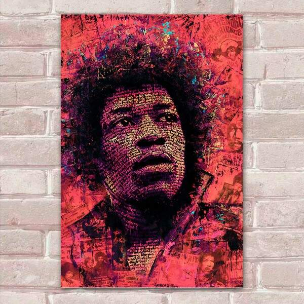 Placa Decorativa Pop Art 55 Jimi Hendrix