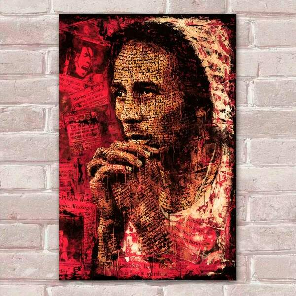 Placa Decorativa Pop Art 56 Bob Marley