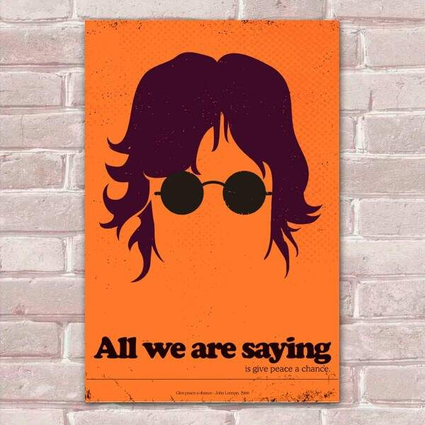 Placa Decorativa Pop Art 63 John Lennon