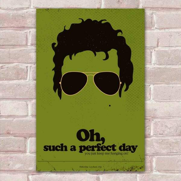 Placa Decorativa Pop Art 66 Lou Reed