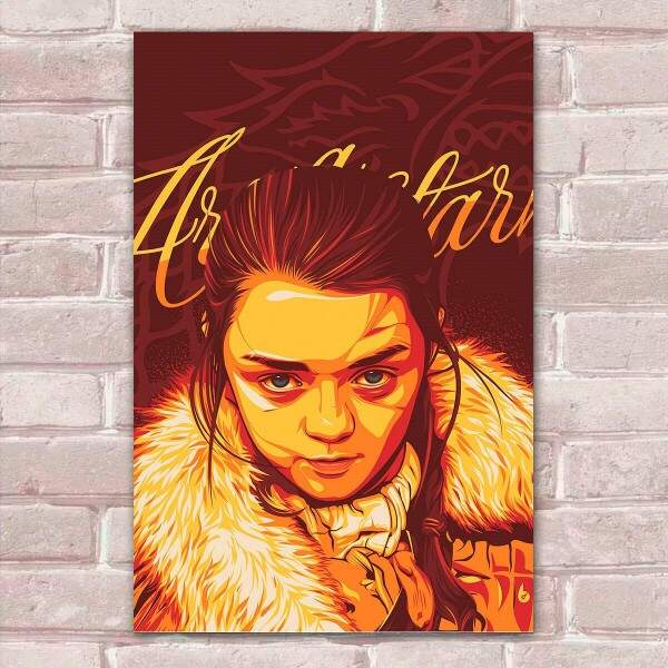 Placa Decorativa Fan Art 01 Arya Stark