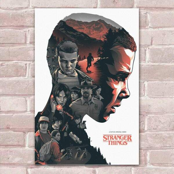 Placa Decorativa Fan Art 20 Stranger Things