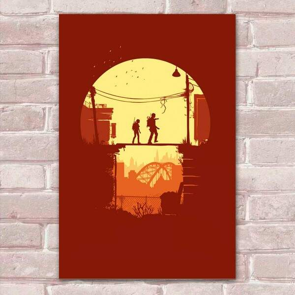 Placa Decorativa Fan Art 22 The Last Of Us 2