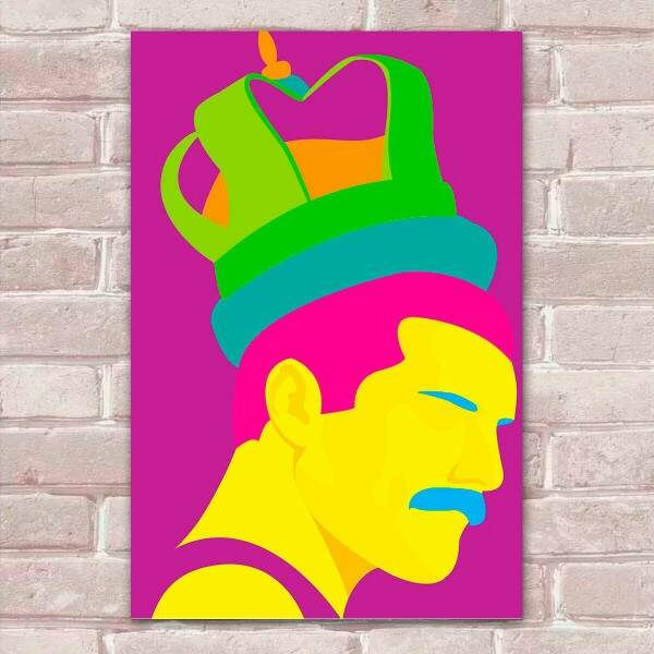 Placa Decorativa Pop Art 72 Queen