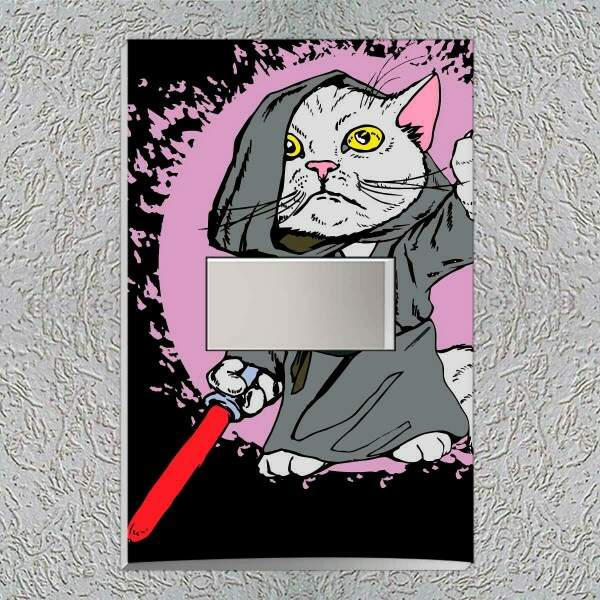 Interruptor Impresso Gato Star Wars