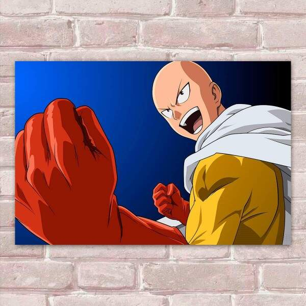 Placa Decorativa One Punch Man 5 Saitama