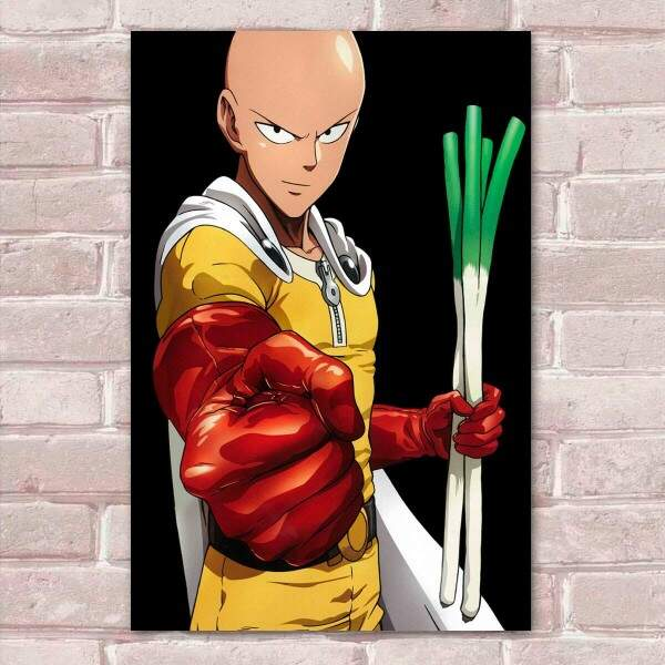 Placa Decorativa One Punch Man 12 Saitama