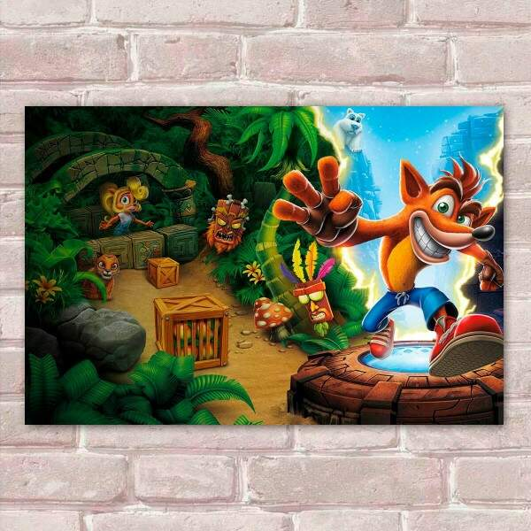 Placa Decorativa Games Crash 07