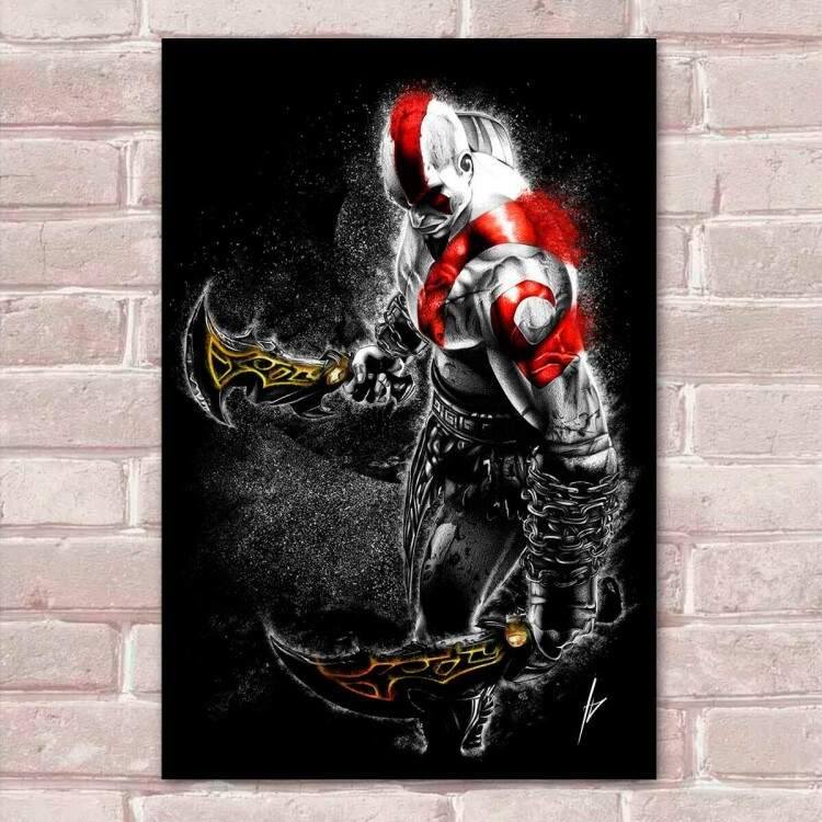 Placa Decorativa God of War 7