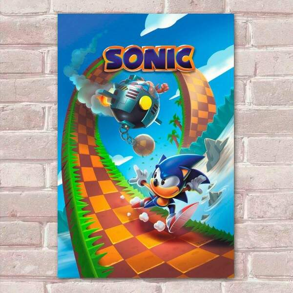 Placa Decorativa Sonic 18