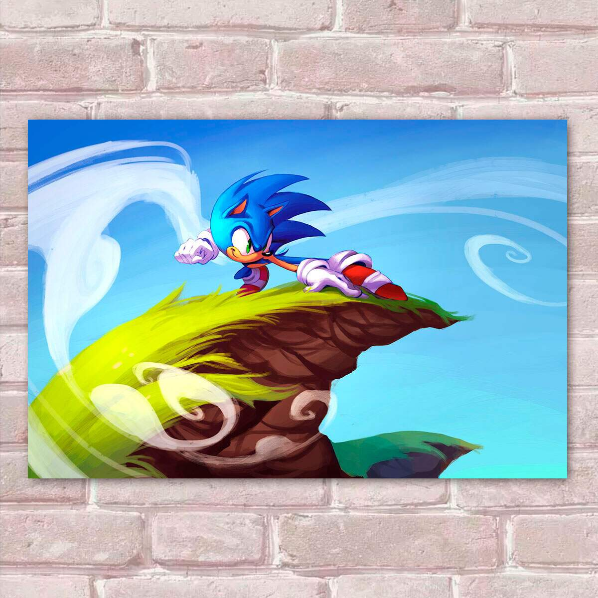 Placa Decorativa Sonic 25