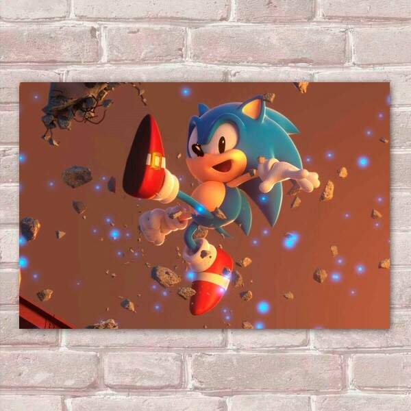 Placa Decorativa Sonic 30