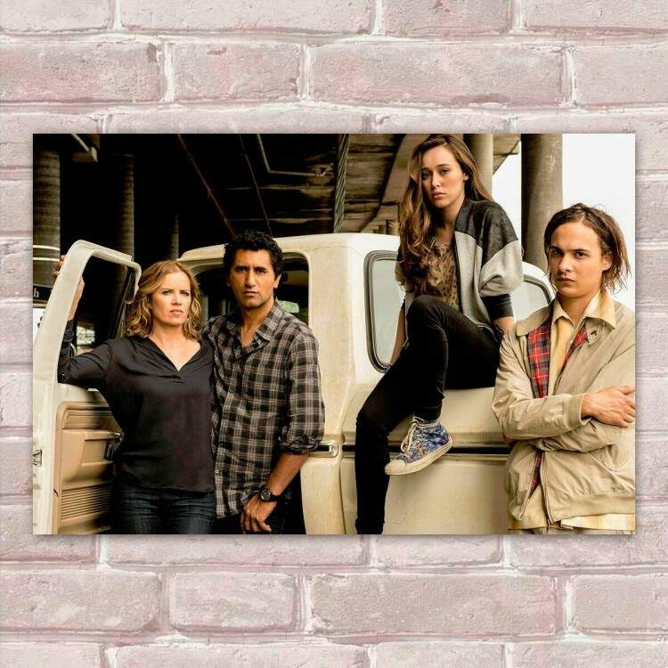 Placa Decorativa Fear The Walking Dead 3