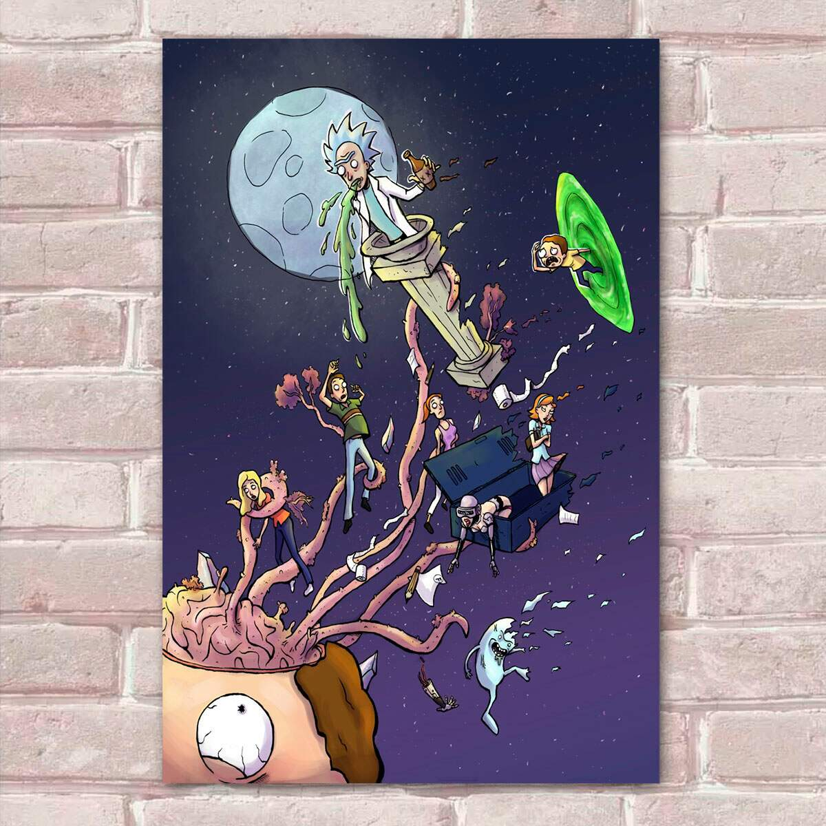 Placa Decorativa Rick And Morty 18