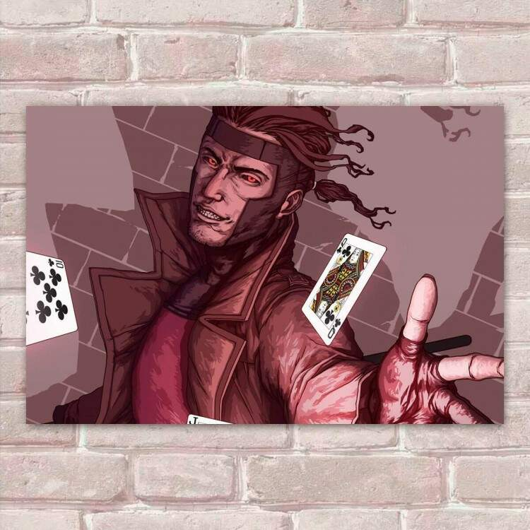Placa Decorativa Heróis Gambit 5