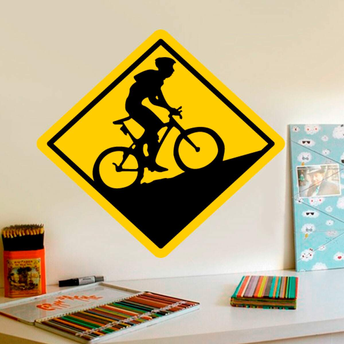 Adesivo Decorativo Placa Mountain Bike